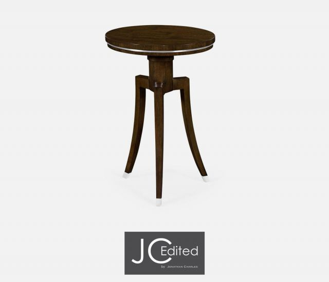 Jonathan Charles Round Side Table American Walnut