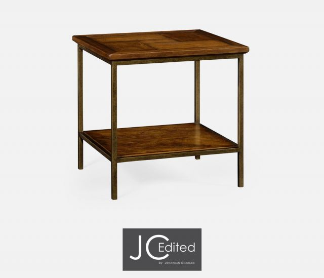 Jonathan Charles Square End Table Rustic