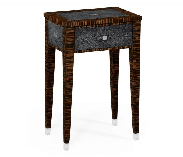 Jonathan Charles Lamp Table with Drawer Shagreen