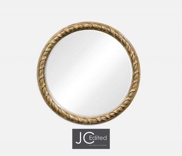 Jonathan Charles Round Mirror English
