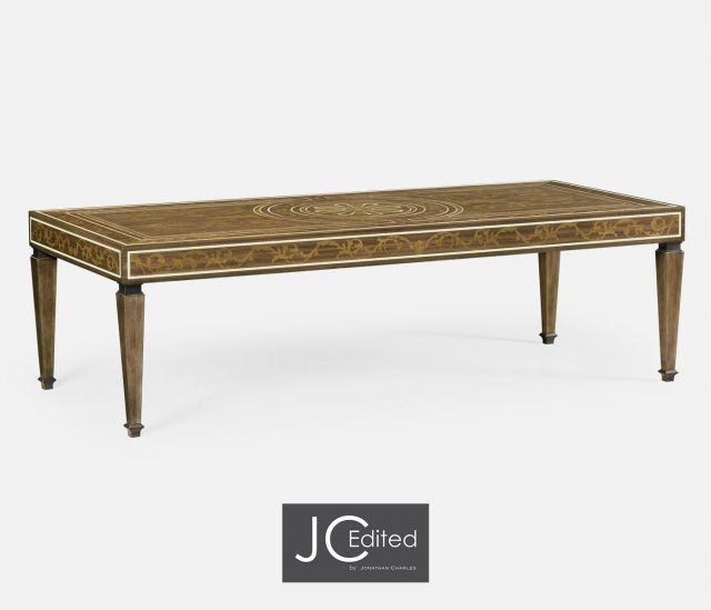 Jonathan Charles Long Coffee Table Tobacco