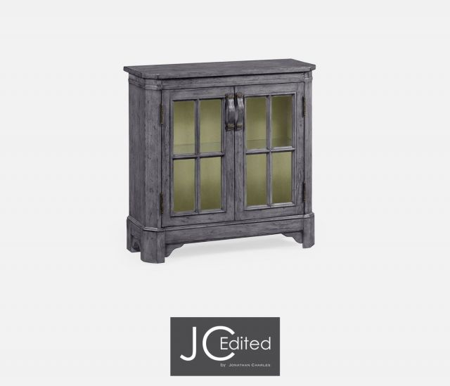 Jonathan Charles Low Bookcase Rustic