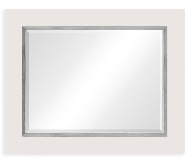 Jonathan Charles Mirror Homespun with Silver Frame
