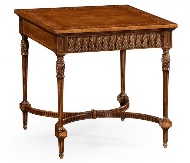 Jonathan Charles Square Side Table Napoleon with Fine Inlay