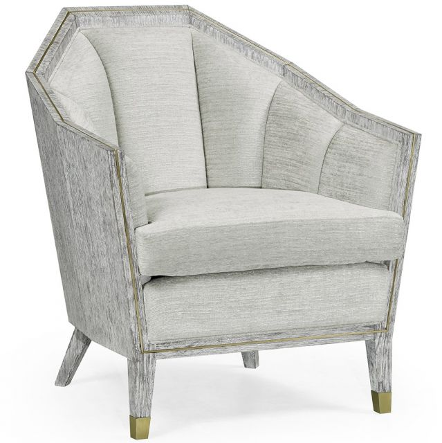 Jonathan Charles Armchair Transitional in Light French Oak - COM