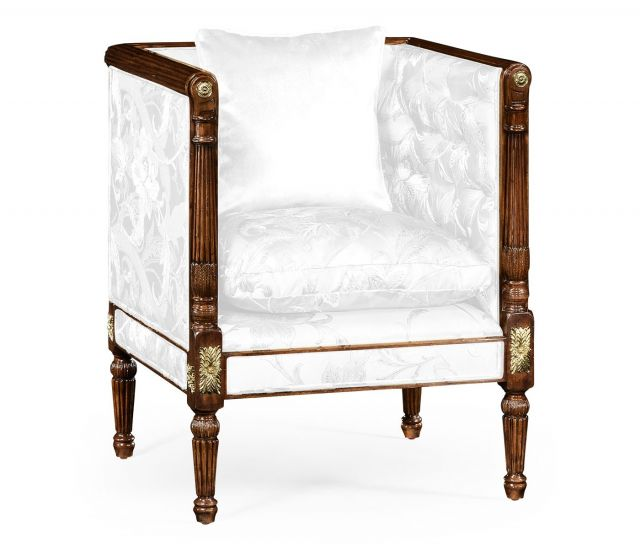 Jonathan Charles Club Chair Regency with Brass Detail