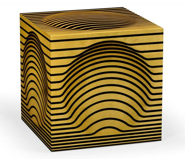 Jonathan Charles Cube Accent Table Bright