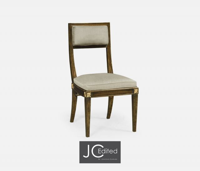 Jonathan Charles Dining Chair Open Back Walnut in Mazo
