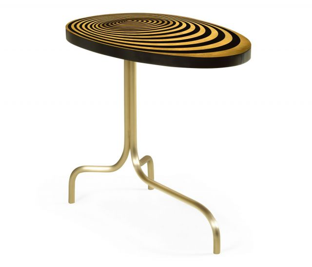 Jonathan Charles Oval Supper Table Geometric with Tripod Base