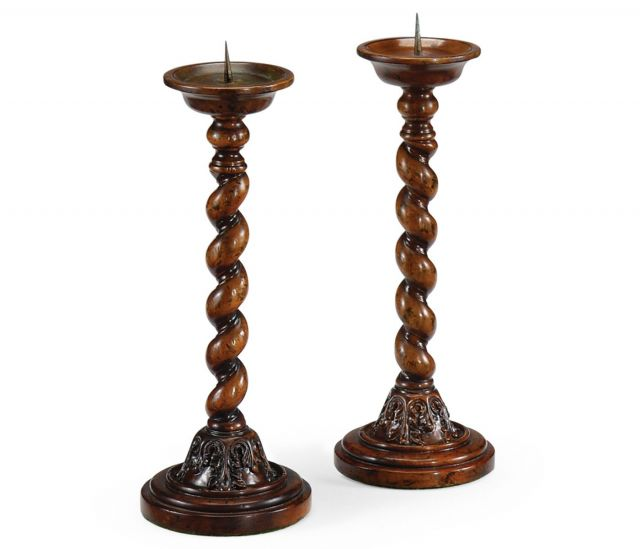 Jonathan Charles Pair of Candlesticks Twisted