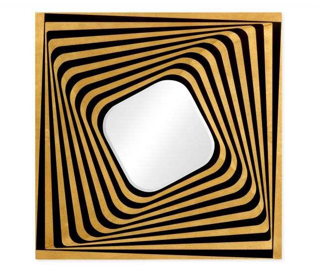 Jonathan Charles Square Wall Mirror Psychedelic