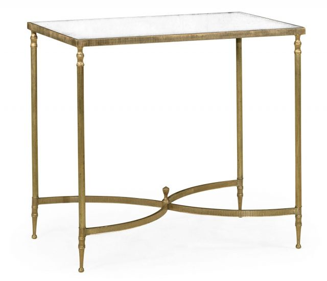 Jonathan Charles End Table with Antique Mirror Top