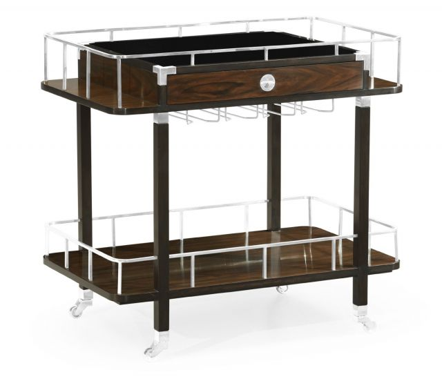 Jonathan Charles Drinks Trolley Military in Santos Rosewood