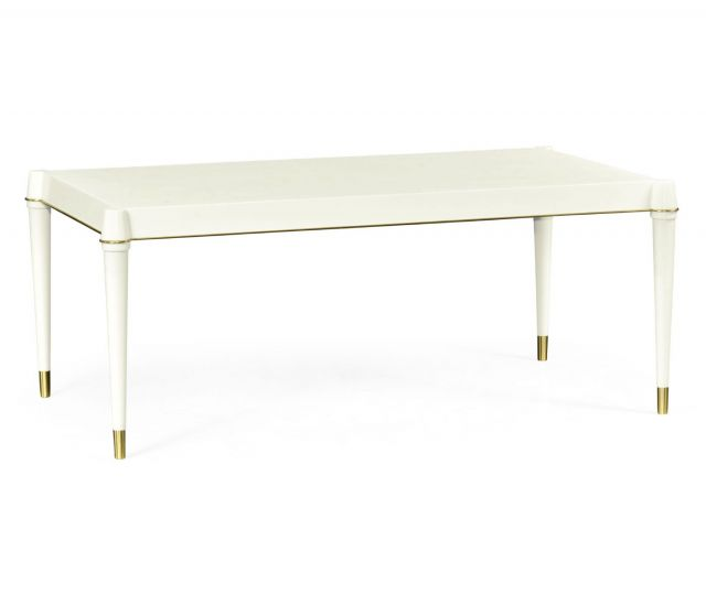 Jonathan Charles Rectangular Coffee Table with Brass Details