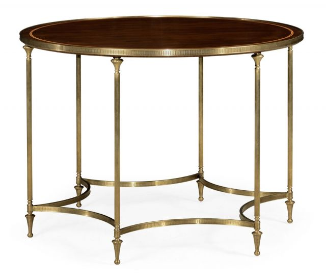 Jonathan Charles Centre Table Dark Santos with Six Leg Base