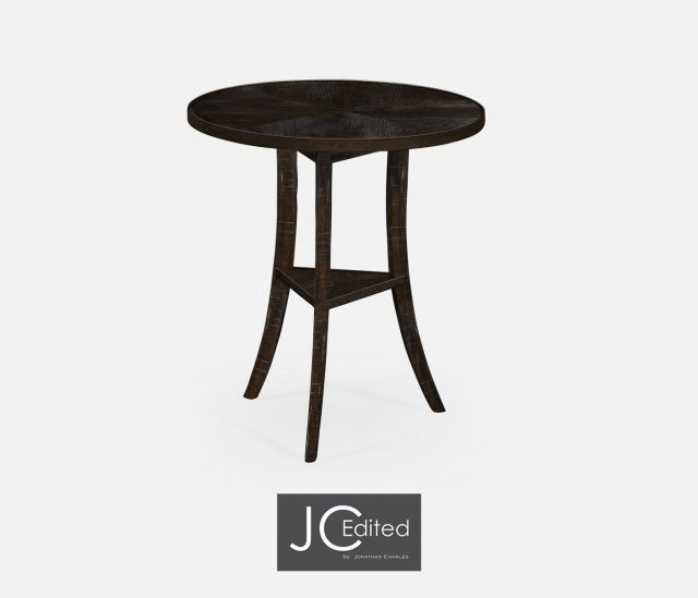 Jonathan Charles Round Lamp Table Rustic