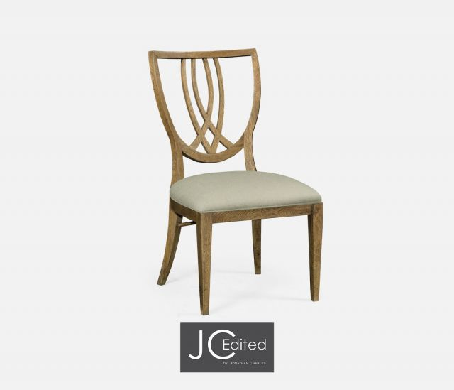 Jonathan Charles Dining Chair English Shield Back in Mazo