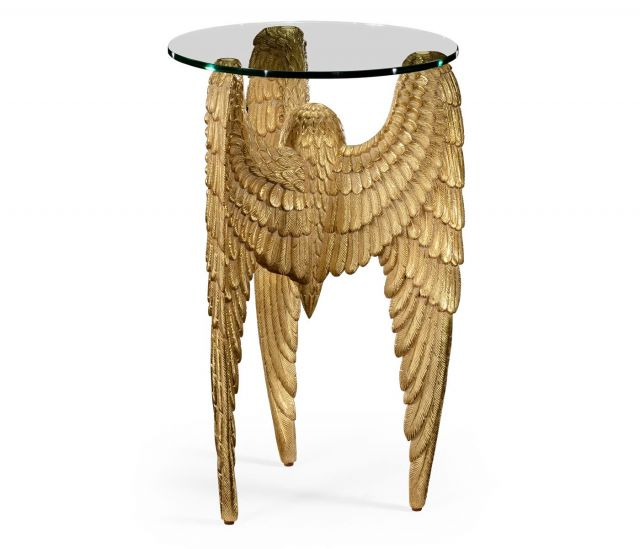 Jonathan Charles Round End Table Winged