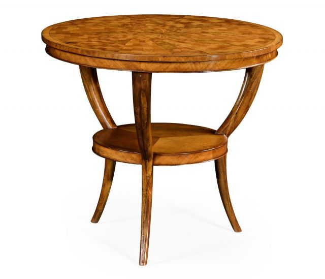 Jonathan Charles Centre Table Satinwood Two-Tier