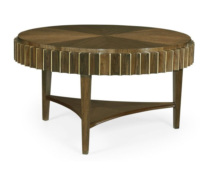 Cosmo Round Coffee Table Reeded Jonathan Charles Furniture