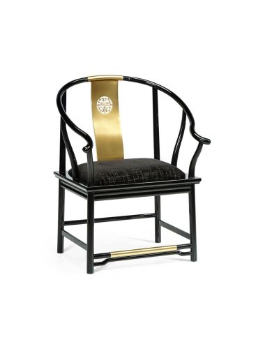 Fusion Asian Fusion Curved Dining Armchair   Jonathan Charles