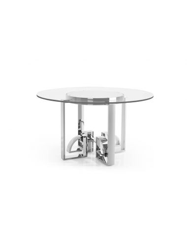Indochine Asian Fusion Dining Table with Glass Top   Jonathan Charles