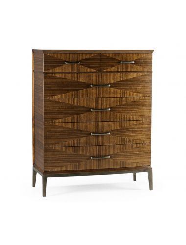 Toulouse Garonne Walnut Tall Chest of Drawers   Jonathan Charles