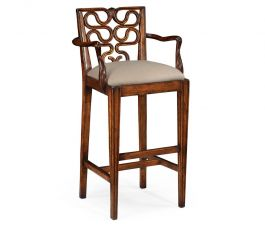 Windsor Bar Stool With Arms Serpentine Jonathan Charles Furniture