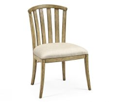 Jonathan Charles Light Driftwood Dining Chair Rustic Curved Back