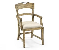 Jonathan Charles Light Driftwood Dining Armchair Rustic Planked