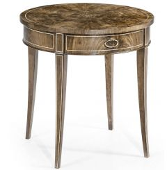 Jonathan Charles Round Bleached Mahogany Side Table