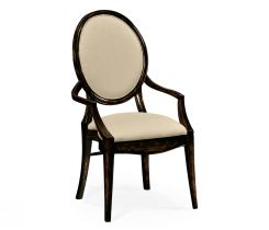 Jonathan Charles Monarch Spoon Back Dining Armchair in Distressed Honey