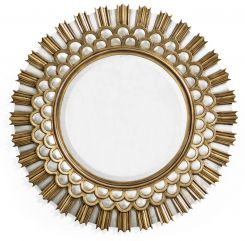 Jonathan Charles Burst Gilded Round Wall Mirror - Small
