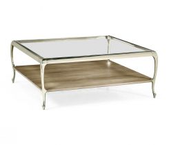 Jonathan Charles Parisian Square Coffee Table with Glass Top
