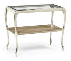 Jonathan Charles Parisian Small Console Table with Glass Top