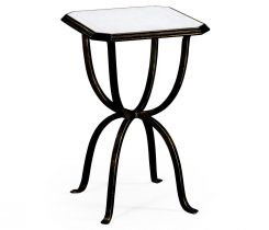 Jonathan Charles Octagonal Side Table Horseshoe - Bronze
