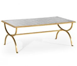 Jonathan Charles Coffee Table Hourglass in Eglomise - Gilded