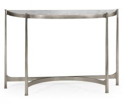 Jonathan Charles Large Demilune Console Table Contemporary