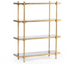 Jonathan Charles Etagere Contemporary Four-Tier
