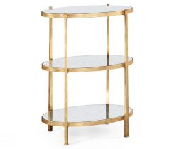Jonathan Charles Large Oval Side Table Contemporary Three-Tier