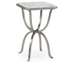 Jonathan Charles Octagonal Side Table Horseshoe - Silver