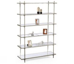Jonathan Charles Wide Etagere Contemporary Six-Tier