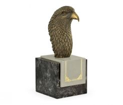Jonathan Charles Eagle Head Figurine on Marble Base
