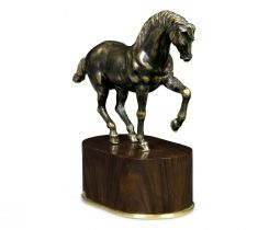 Jonathan Charles Horse Sculpture in Antique Bronze