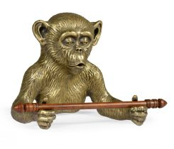 Jonathan Charles Tissue Paper Holder Bronze Monkey