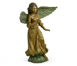 Jonathan Charles Angel Figurine in Antique Brass
