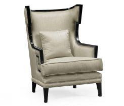 Jonathan Charles Armchair Greek Revival Painted Black
