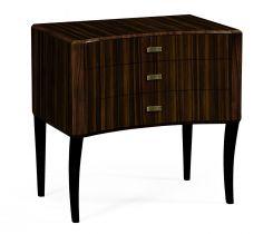 Jonathan Charles Bedside Chest of Drawers Lustre