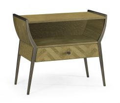 Jonathan Charles Bedside Table Doha in Oak