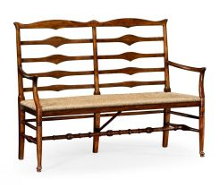 Jonathan Charles Double Bench Ladder Back